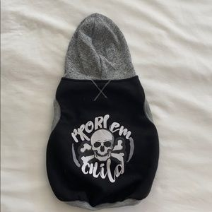 "Dog hoodie vest ""problem child""☠️ medium EUC"